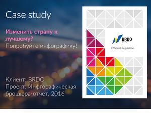 Инфографическая брошюра-отчет BRDO